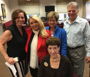 L-R: Denise Cotler, All Faiths Food Bank CEO; Ida Zito, DWB Board of Trustees President; Barbara Epperson, DWB Board Secretary; Board Members Janice Zarro & Dennis Campagnone