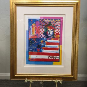 "Peter Max Print: ""God Bless America II"""