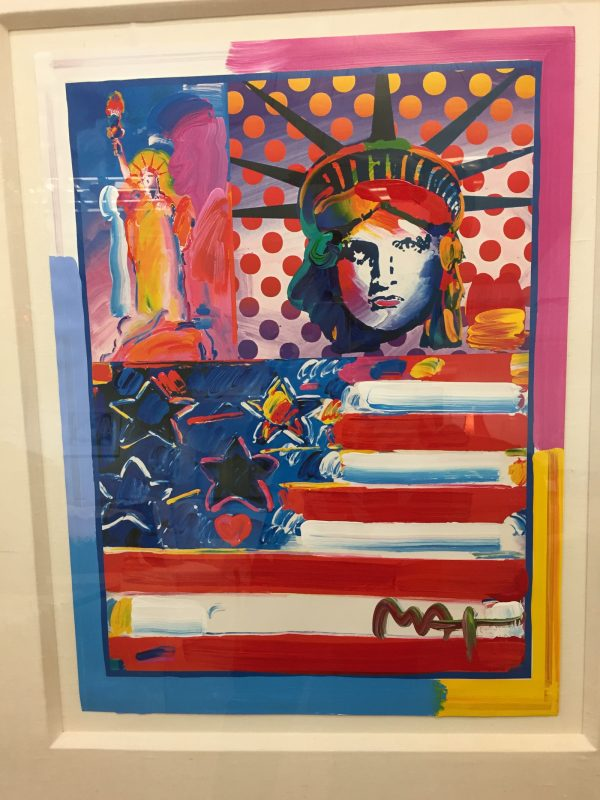 "Peter Max Print: ""God Bless America II"""