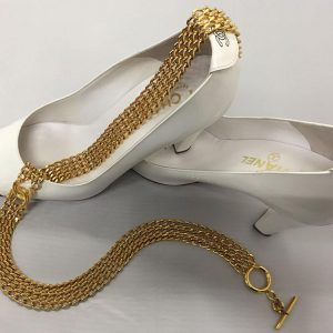 Chanel Gold Chain Toggle Belt with Shoes