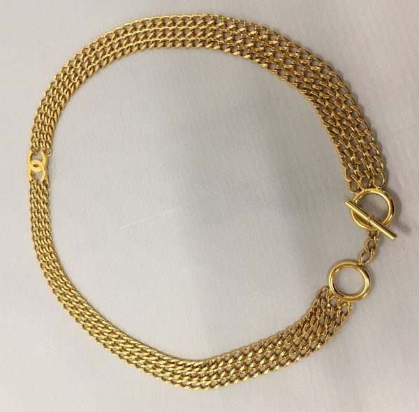 Chanel Gold Chain Toggle Belt Top View