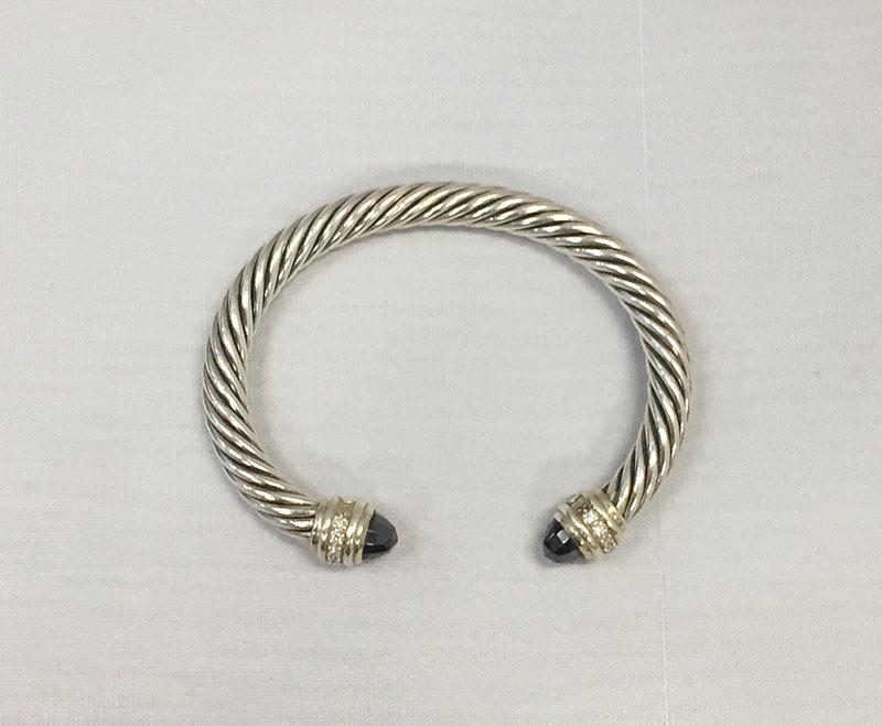 David Yurman Hemae And Diamond 7mm Cable Bracelet