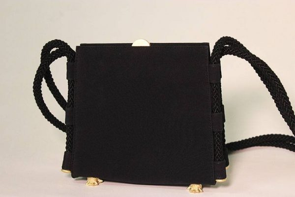 Barry Kieselstein-Cord Black Evening Bag Back View