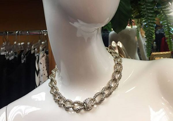 Scott Kay Sterling Silver Chain Necklace With .31 Diamond Clasp