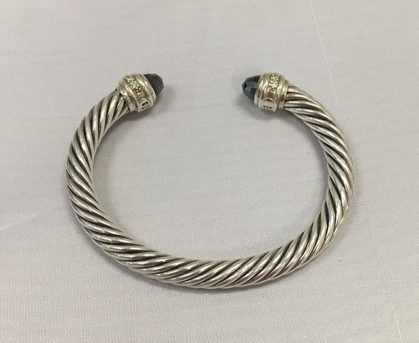 David Yurman Hematite and Diamond Bracelet Back View