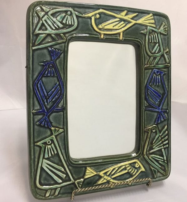 Lisa Larson For Gustavsberg Ceramic Wall Mirror
