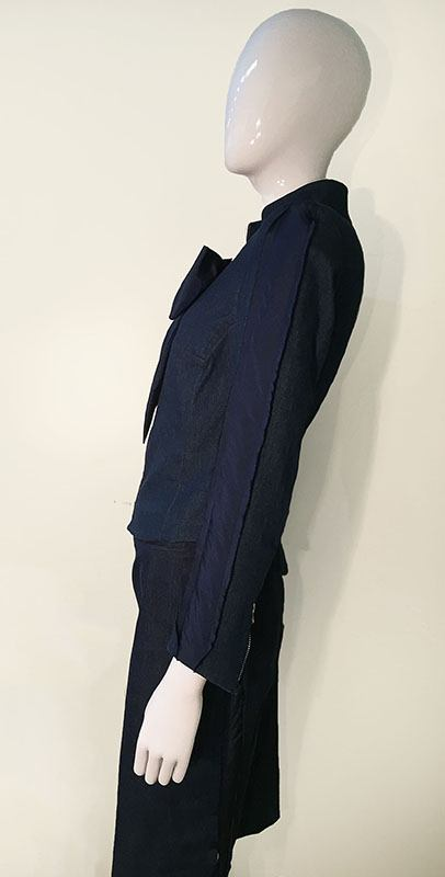 Craig Signer Denim Skirt Suit Side View