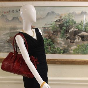 Brahmin Red Crocodile Embossed Leather Satchel Hand Bag Preview View