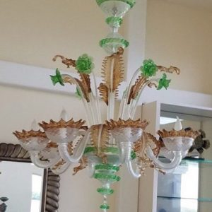 Archimede Segusa Murano Glass Eight Arm Chandelier Preview View