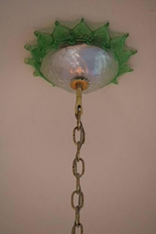 Archimede Segusa Murano Glass Eight Arm Chandelier Ceiling Canopy View