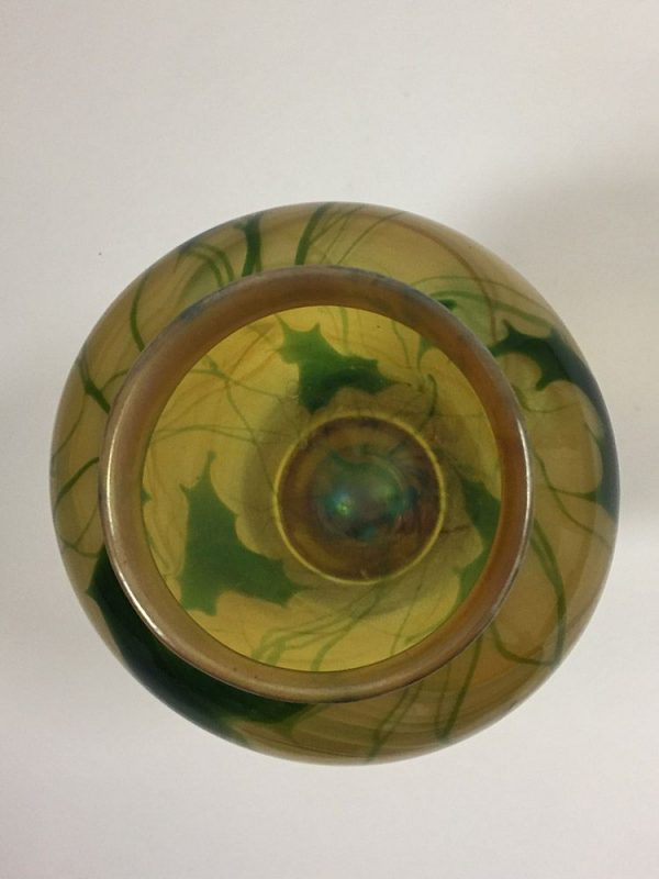 Tiffany Leaf Vase Top View