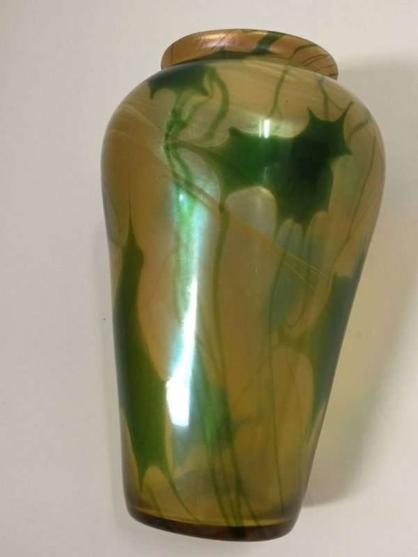 Tiffany Leaf Vase Side View 2