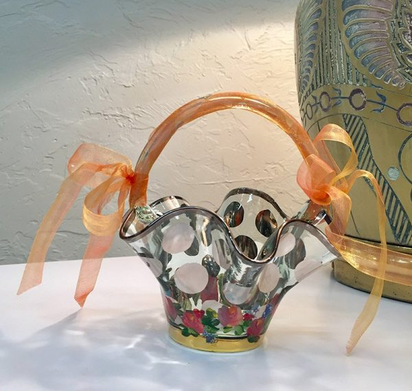 MacKenzie-Childs Circus Collection Glass Basket Preview View