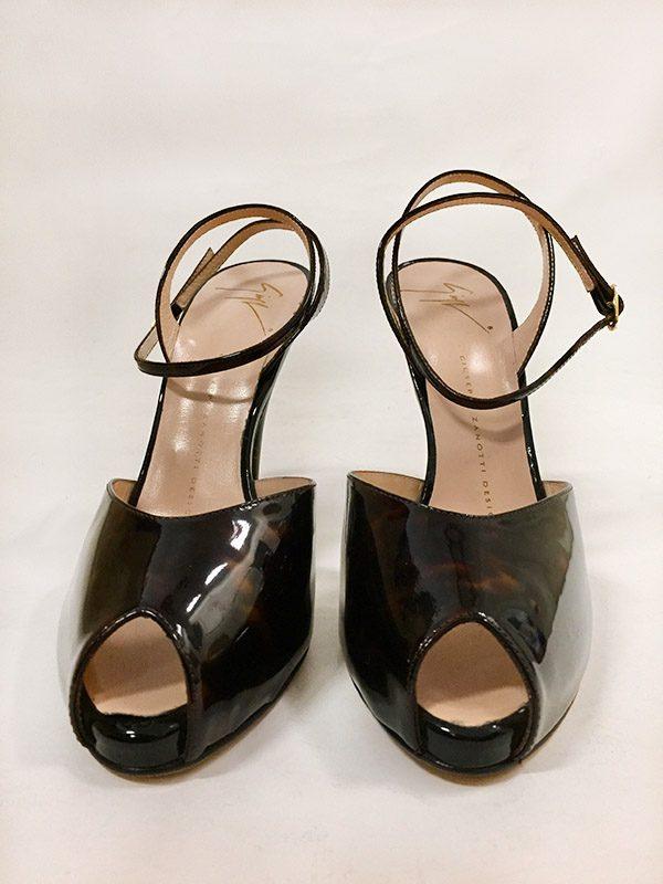 Giuseppe Zanotti Design Tortoise High Heel Sandal Front View 2