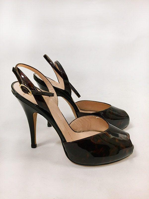 Giuseppe Zanotti Design Tortoise High Heel Sandal Side View
