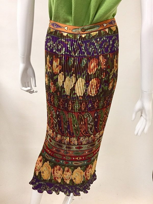 Emanuel Ungaro Accordion Pleated Skirt Front View 2