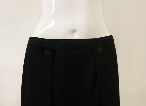 Chanel Button Front Skirt Waist View