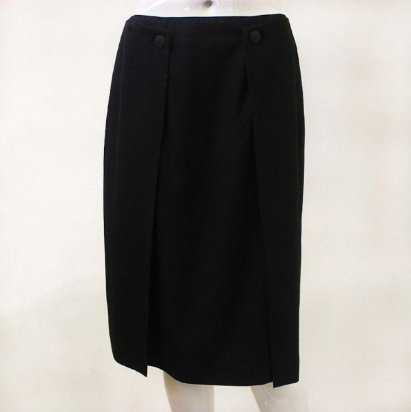 Chanel Button Front Skirt Front View