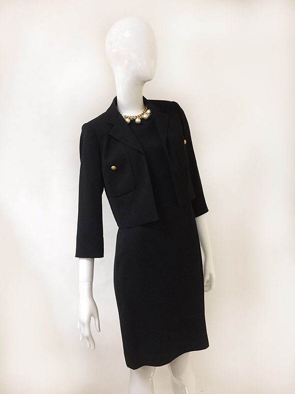 Bloomingdale's Dress With Jacket Front View 2 PC