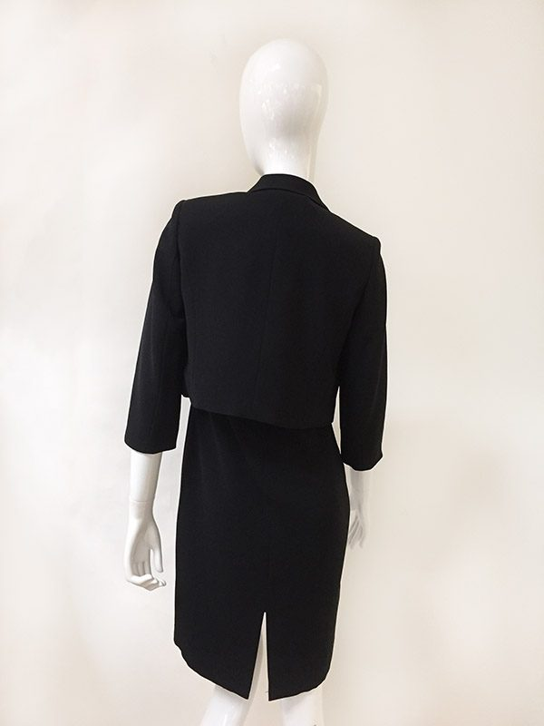 Bloomingdale's Dress With Jacket Back View 2 PC
