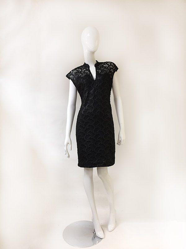 Josie Natori Lace Dress Front View