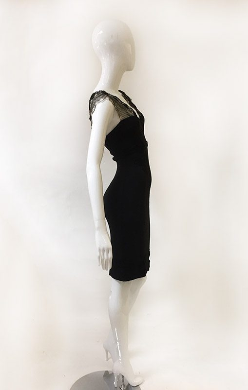 Barbara Lesser Fitted Dress Side View 2
