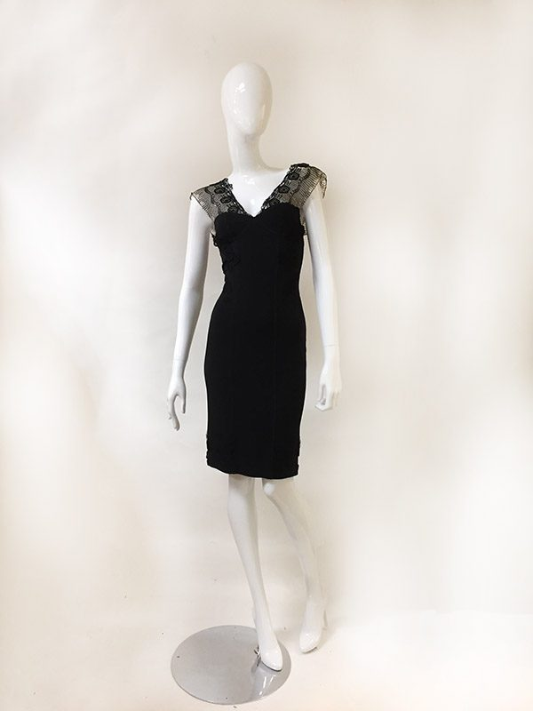 Barbara Lesser Fitted Dress Front View