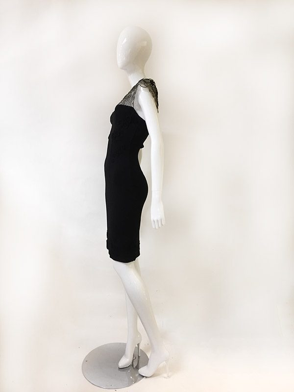 Barbara Lesser Fitted Dress Side View
