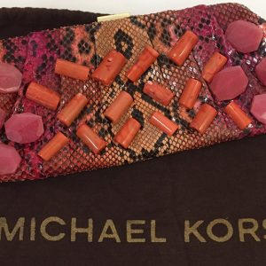 Michael Kors Python Print Clutch Preview View