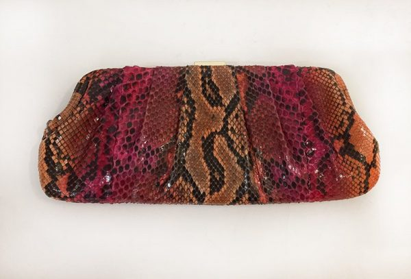 Michael Kors Python Print Clutch Back View
