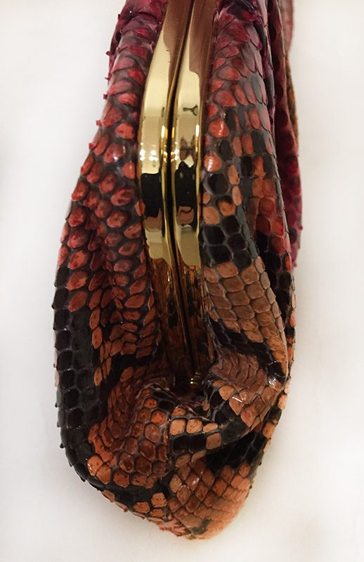 Michael Kors Python Print Clutch Side View