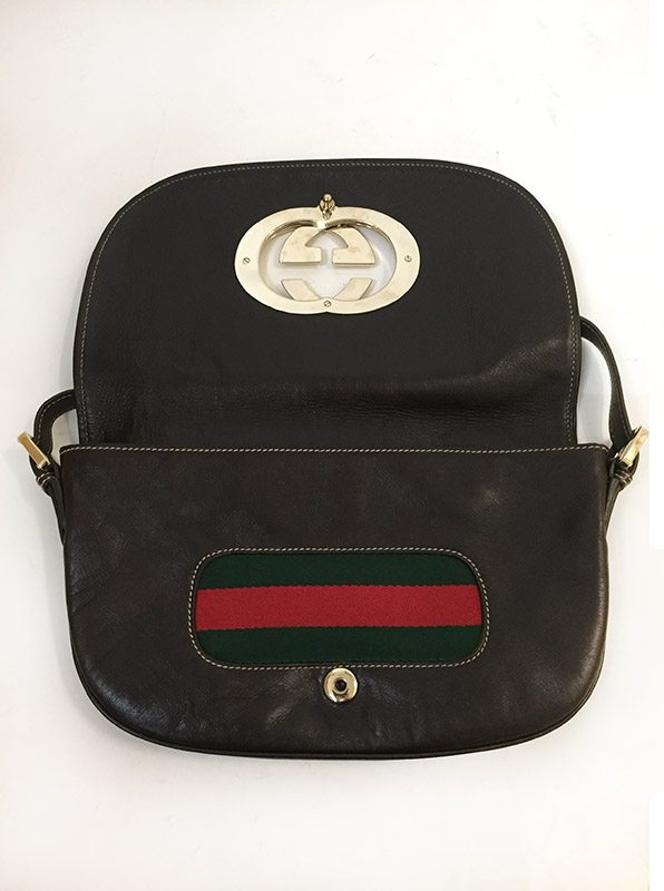 Gucci Front Flap Purse Open View