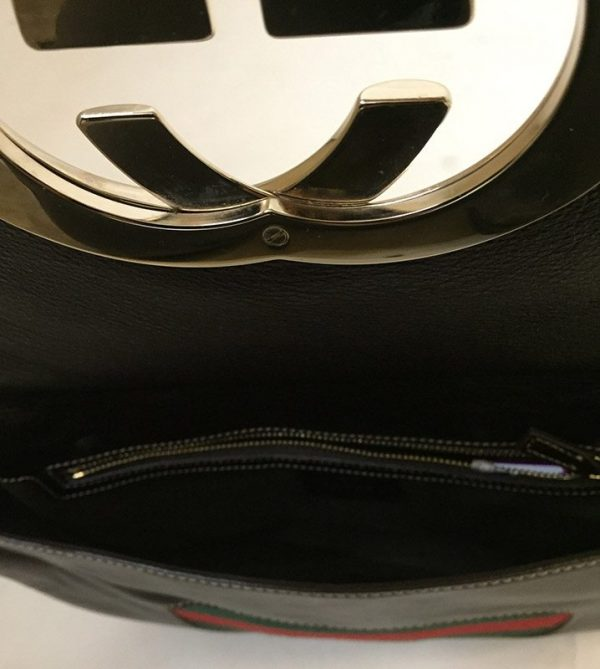 Gucci Front Flap Purse Inside View