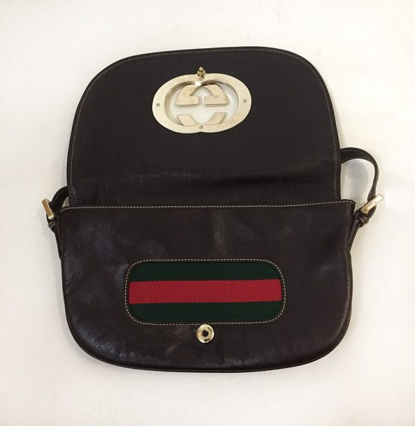Gucci Front Flap Purse Open View 2