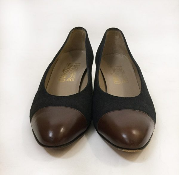 Ferragamo Cap-Toe Pump Front View