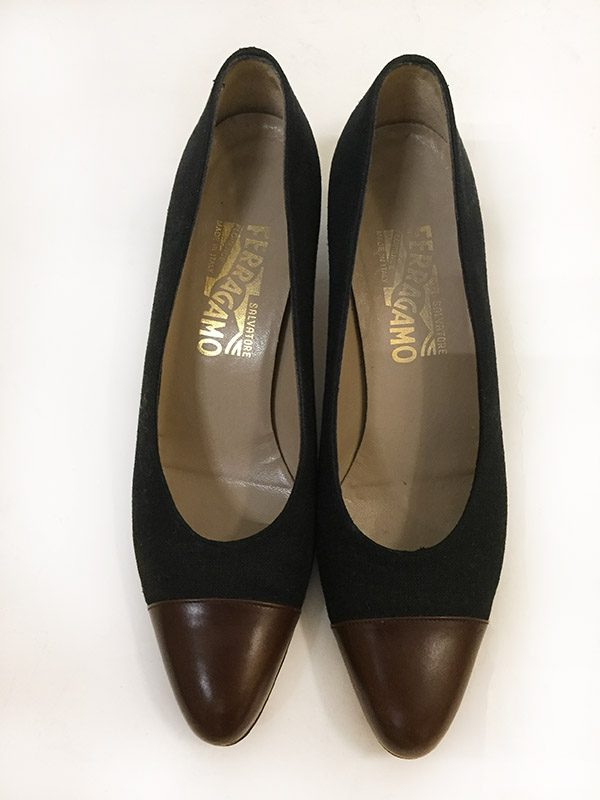 Ferragamo Cap-Toe Pump Top View