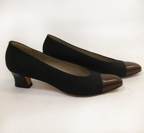 Ferragamo Cap-Toe Pump Side View
