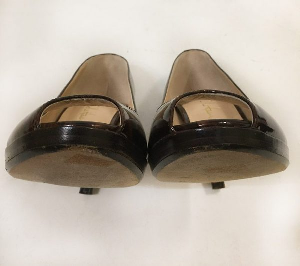 Cole Haan Tortoise Peep Toe Pumps Front Wear View