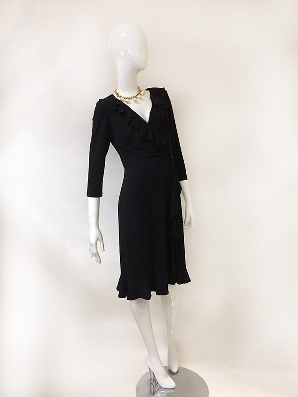 Nygard Collection Mock Wrap Dress Front View