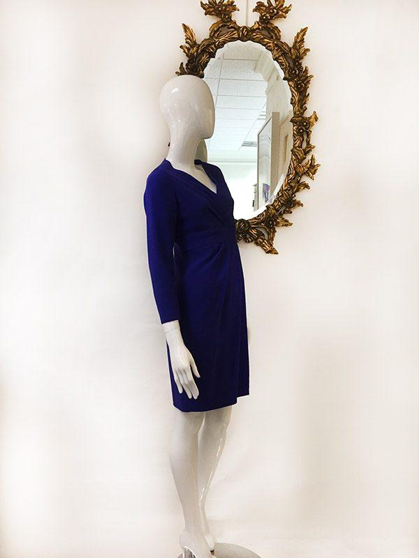 Carolina Herrera Mock Wrap Dress Preview View