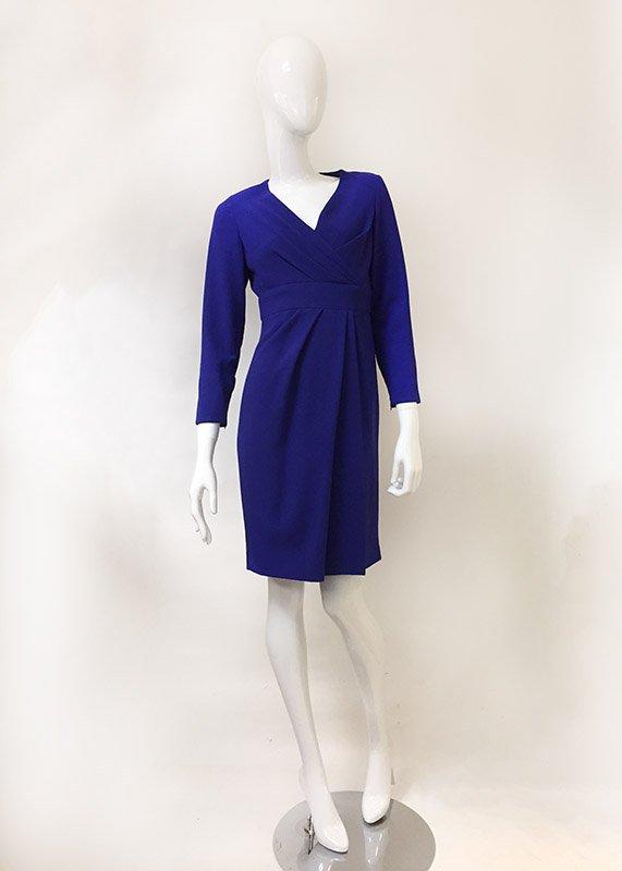 Carolina Herrera Mock Wrap Dress Front View