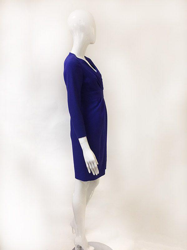 Carolina Herrera Mock Wrap Dress Side View