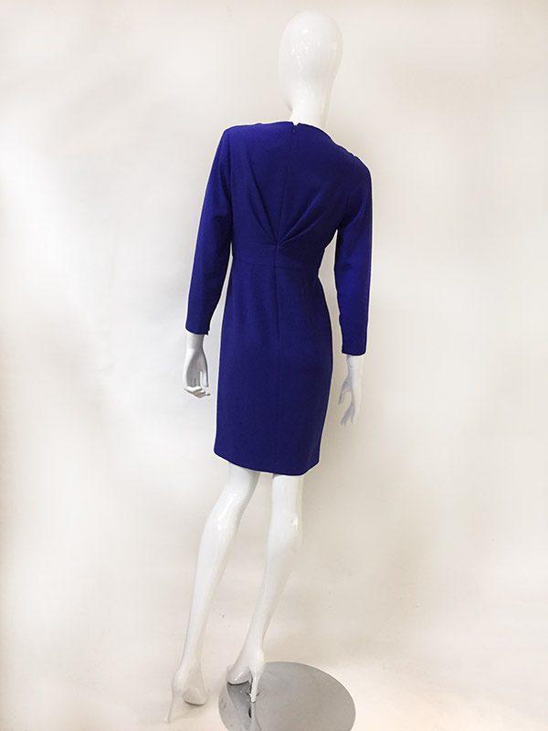 Carolina Herrera Mock Wrap Dress Back View