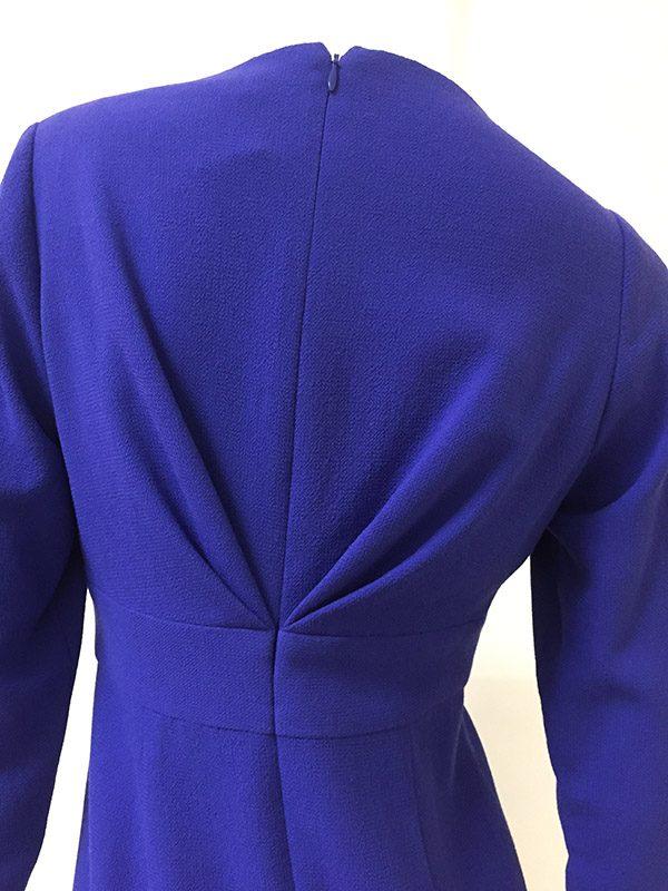 Carolina Herrera Mock Wrap Dress Close Up Back View