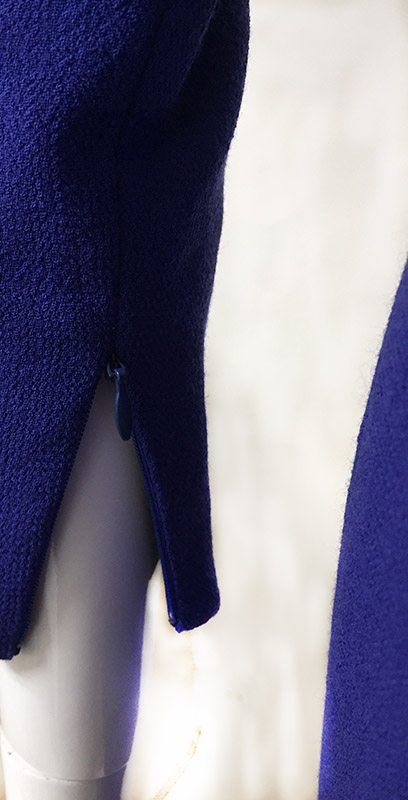 Carolina Herrera Mock Wrap Dress Close Up Sleeve Zip View 2