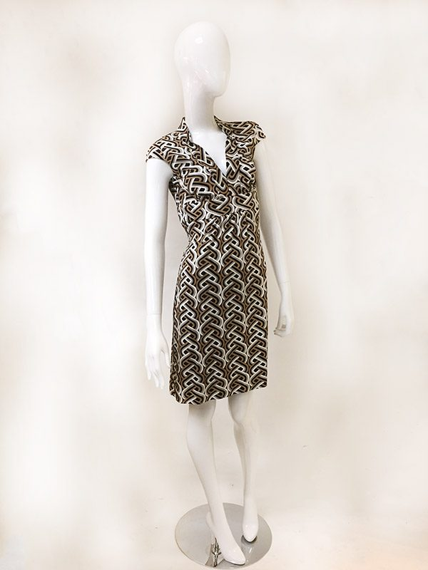 Trina Turk Geometric Print Dress Front View