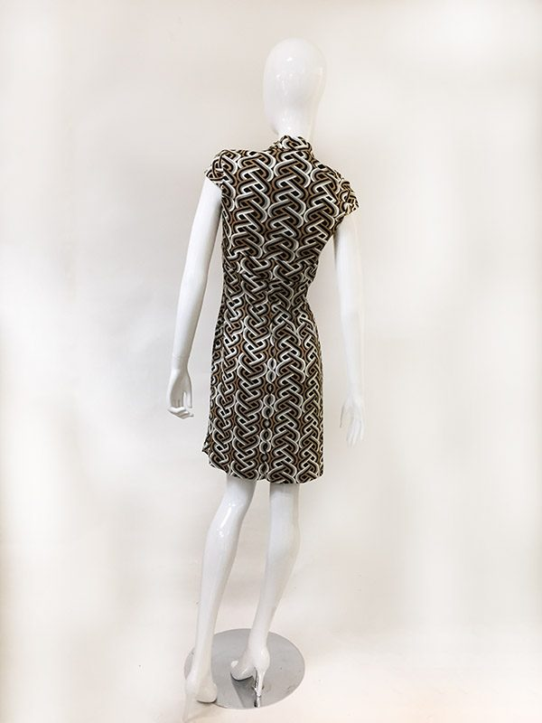 Trina Turk Geometric Print Dress Back View