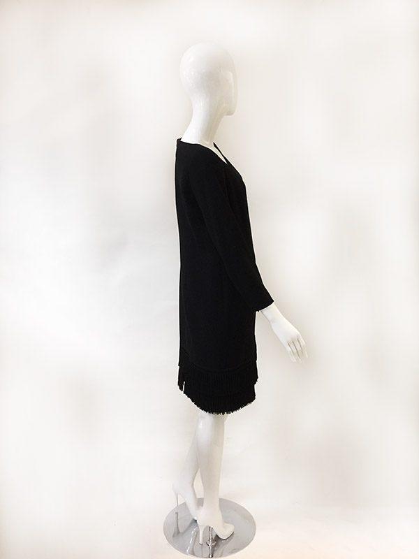 Louis Feraud Fringe Hem Dress Side View