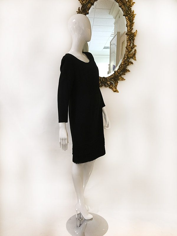Louis Feraud Fringe Hem Dress Preview View
