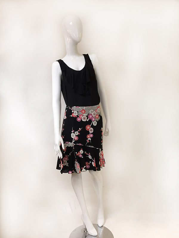 Trina Turk Floral Skirt Front View